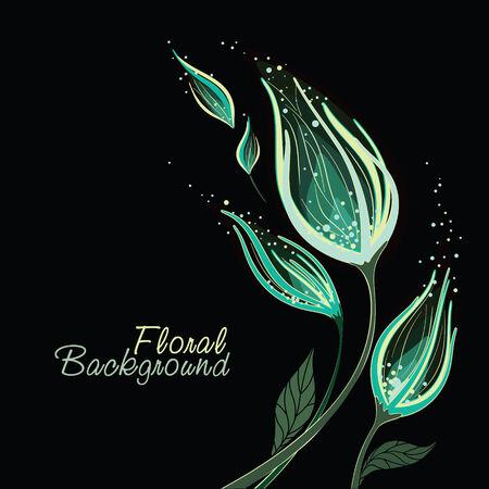 fantasize: Flor de fondo rom�ntico con espacio para el texto