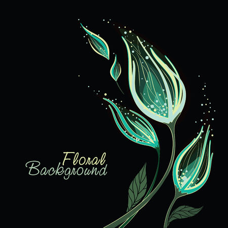 Flower romantic background  With space for your text Illustration