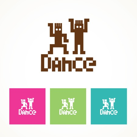 Stylized sign of a dancing couple   Vector