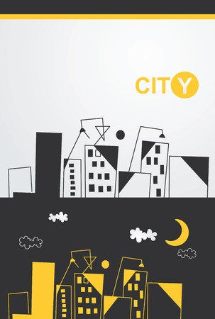 Hand drawn city view Vector