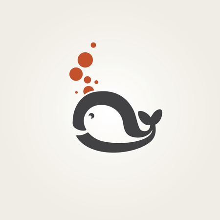 Cute stylized whale Vector