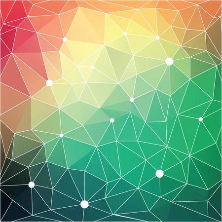 삼각형 객체와 추상적 인 벡터 현대 배경입니다. 일러스트