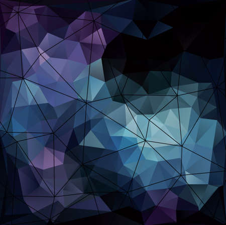 Abstract modern background with triangle object. Illustration