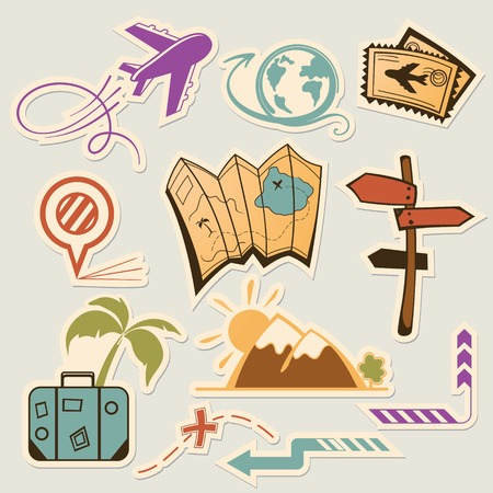 A collection of icons traveler