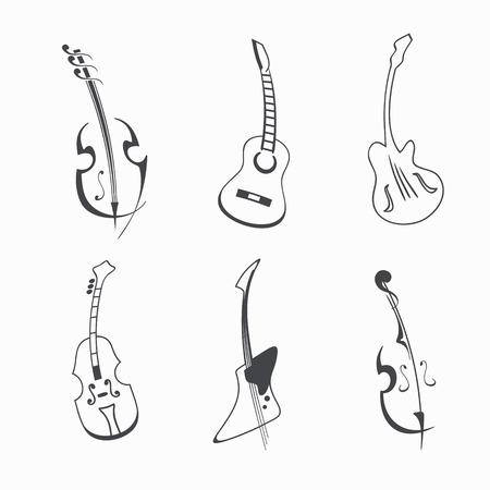 Vector guitar set illustration