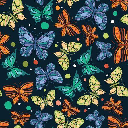 Butterfly seamless pattern,vector background 일러스트