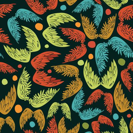 wings vector: Angel wings vector seamless pattern background.