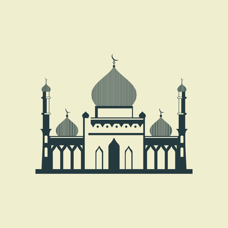 Stylized mosque. Vector illustration