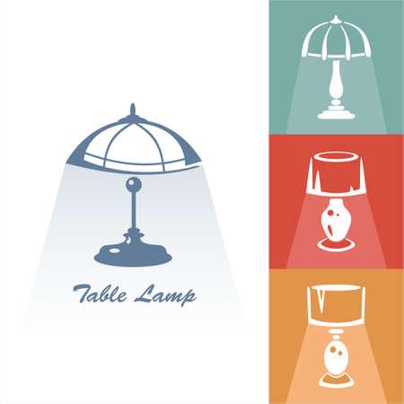 Reading-lamp. Single flat icon. Vector illustration
