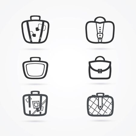 Bags icon set, vector illustration
