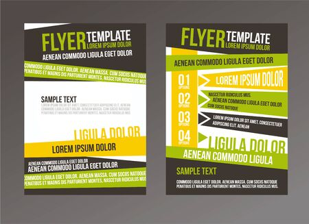 flyer: brochure or magazine cover template Illustration