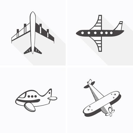 A set of four different planes Ilustrace