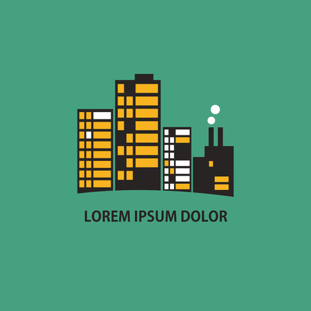 Graphic buildings icon .Vector illustration Ilustrace