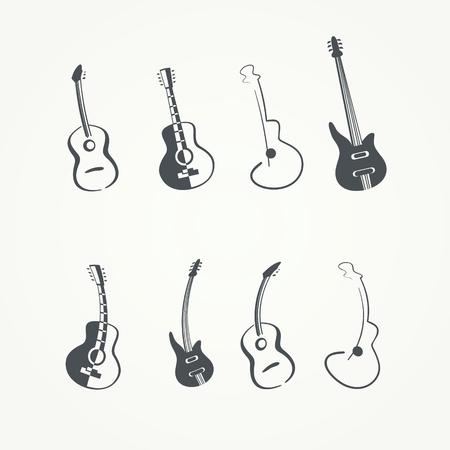 guitar template Ilustrace
