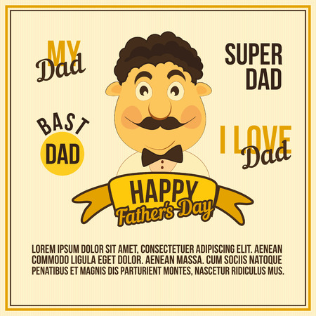 Happy fathers day card. illustration Ilustrace