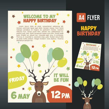 happy birthday card design. Ilustrace