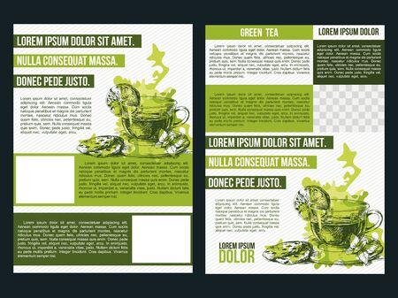 Template of a tea menu, concept design.