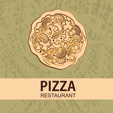 Illustration of tasty pizza.  illustration