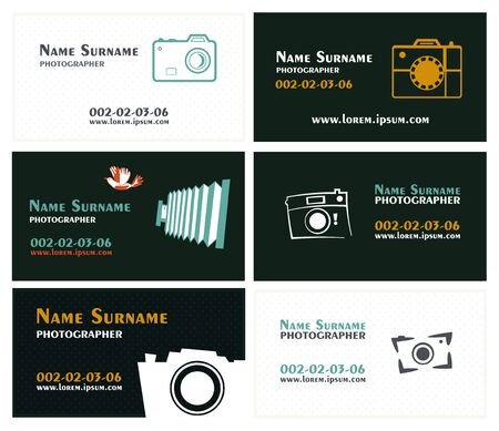 Template business cards for photographers
