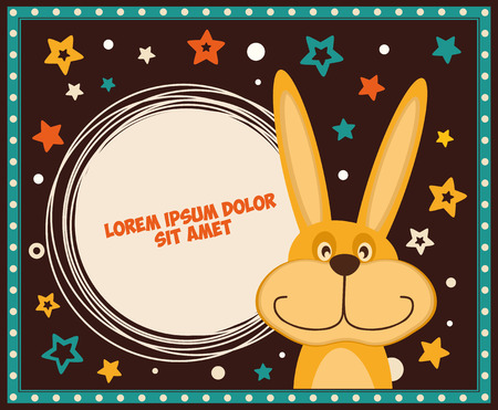 Greeting card with Bunny, space for text