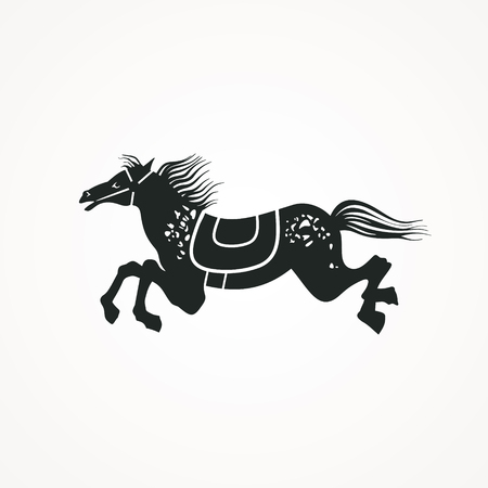 Running Horse vector illustration