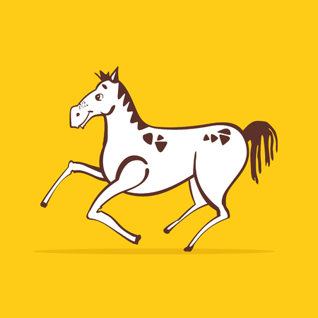 paddock: Running Horse vector illustration