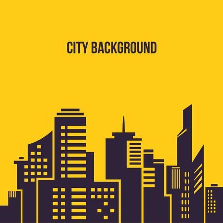 Silhouette of a city. Vector Illustration