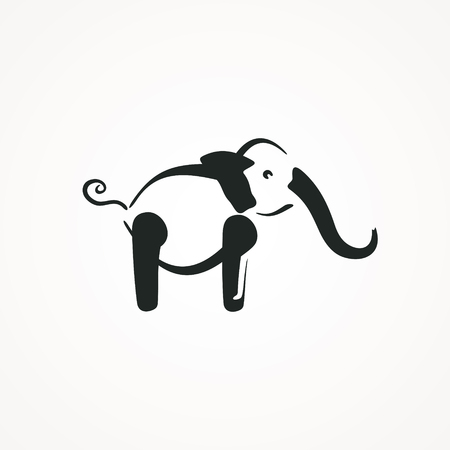 Vector sign elephant. Vector illustration