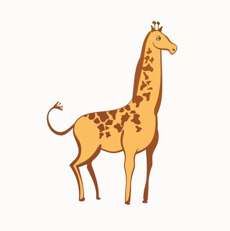 Vector illustration of a giraffe