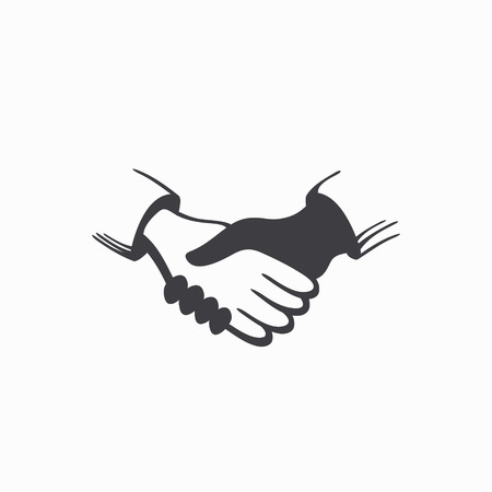 hands together: Handshake icon. . Vector Illustration Illustration