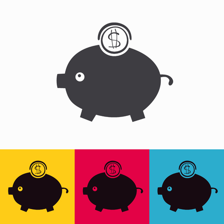 moneybox vector icon. Vector Illustration