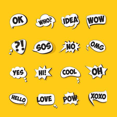 Speech bubbles for cartoons set. Reklamní fotografie - 55964416