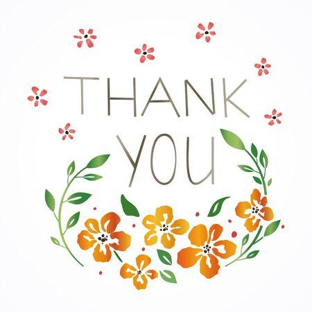 Floral 'Thank you' card Reklamní fotografie - 55964441