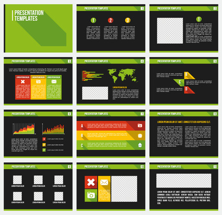 Set of infographic Presentation Template Ilustrace