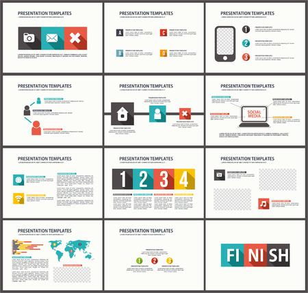 Business Template brochure flyer design Set Presentation Ilustrace