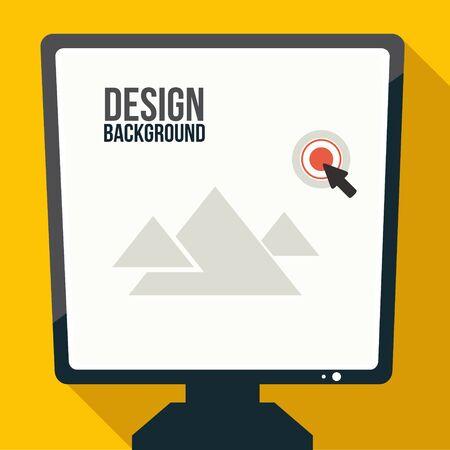 Computer screen symbol background for business design. Reklamní fotografie - 55964086