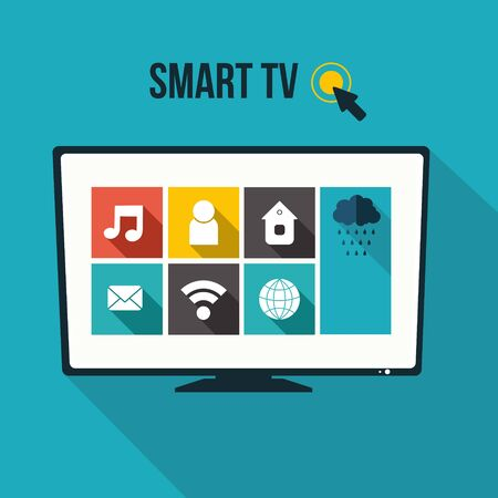 Vector smart tv concept - illustration in flat style