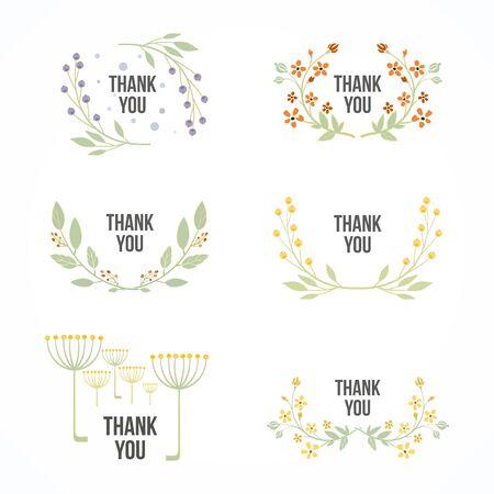 set of floral frames. Vector Illustration Reklamní fotografie - 55963898