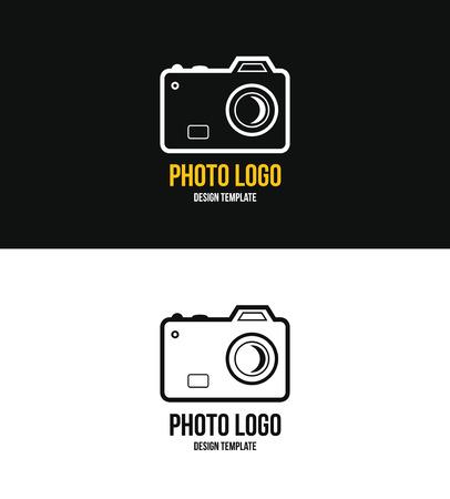 Logo template photography studio Reklamní fotografie - 55963916