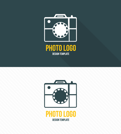 photography studio: Logo template photography studio Illustration