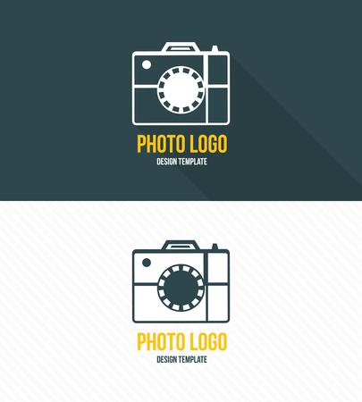 Logo template photography studio Ilustrace
