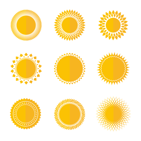 Sun icon set, vector illustration Ilustrace