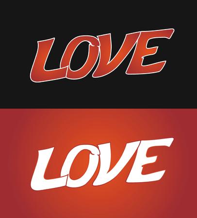 LOVE Font Type. Vector Illustration