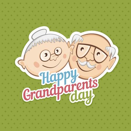 Cute portraits of grandparents. Vector illustration Reklamní fotografie - 59396682