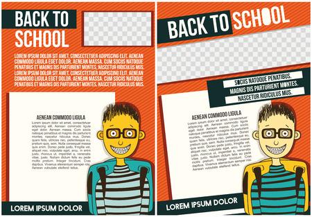 School (college) Flyer Template.
