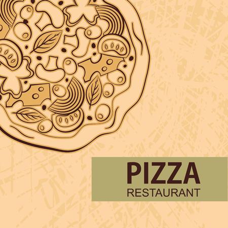 Pizza design menu. Vector illustration Reklamní fotografie - 59396705