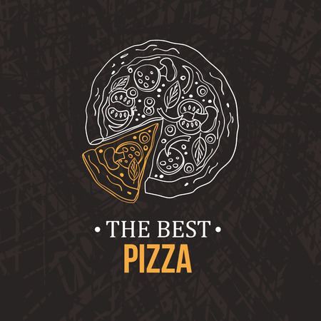 Pizza design menu. Vector illustration
