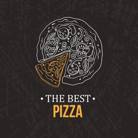 Pizza design menu. Vector illustration Reklamní fotografie - 59396704