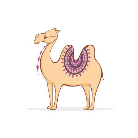 saddle camel: Cute camel cartoon.  Vector illustration