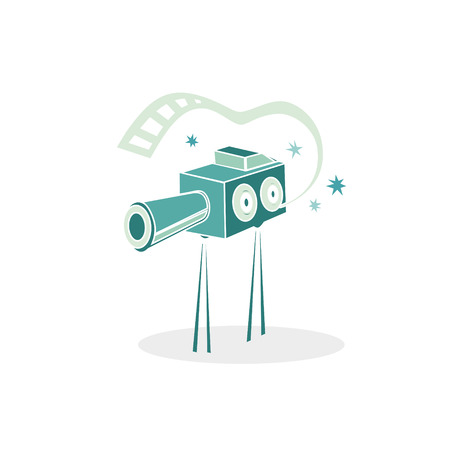 Cinema retro projector. Vector illustration